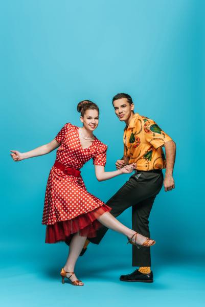 Ein Paar tanzt Boogie Woogie
