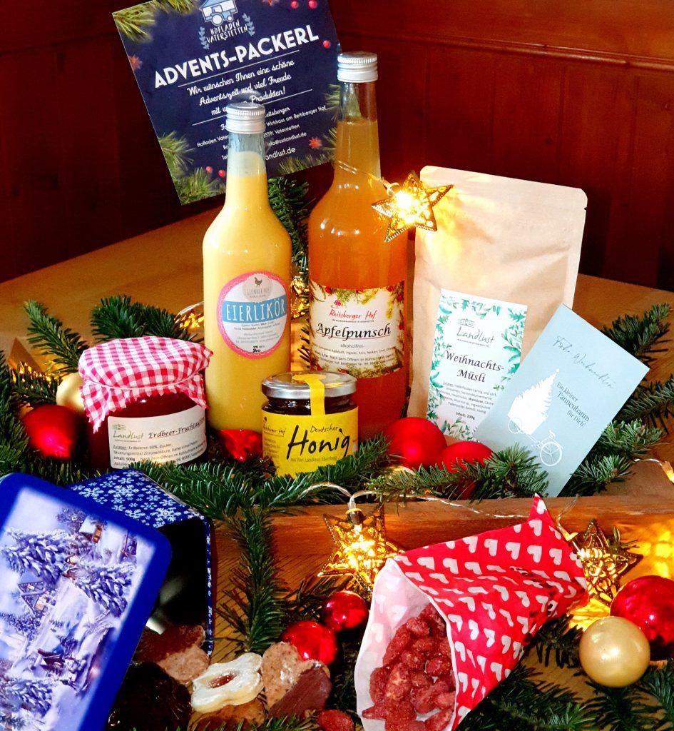 Unsere Produkte im Advents-Packerl zum Versenden oder Abholen