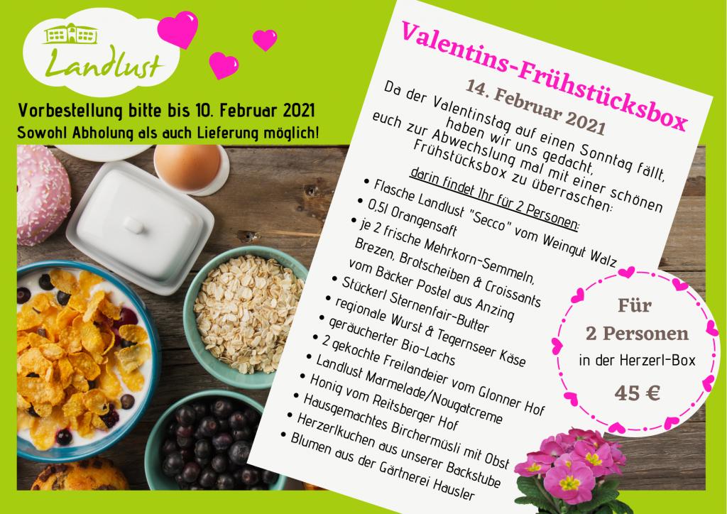 Unsere Valentins-Frühstücksbox