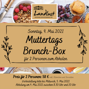 Flyer Muttertags-Brunch-Box aus der Landlust am Reitsberger Hof