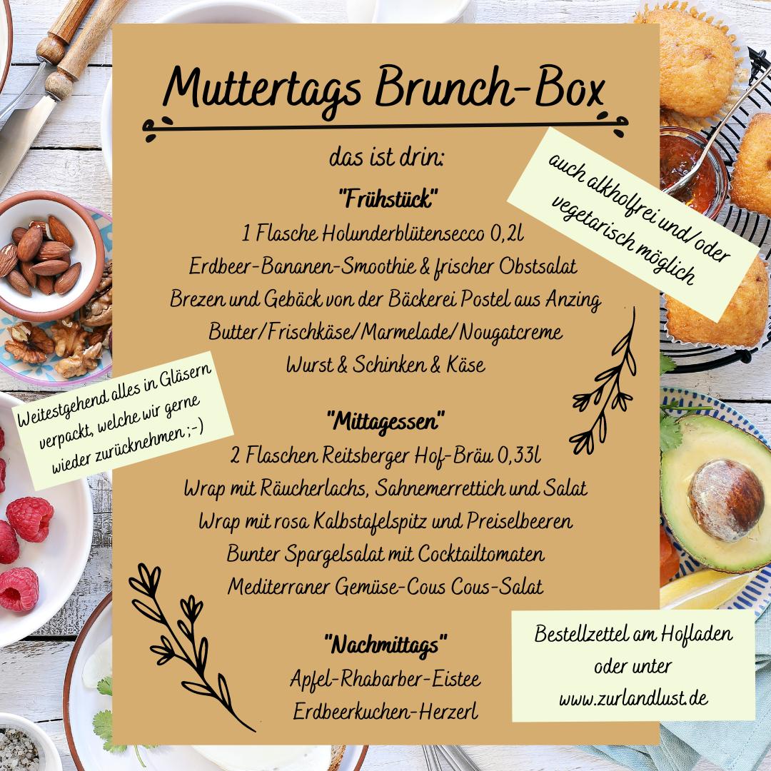 Inhalt Muttertags Brunch Box