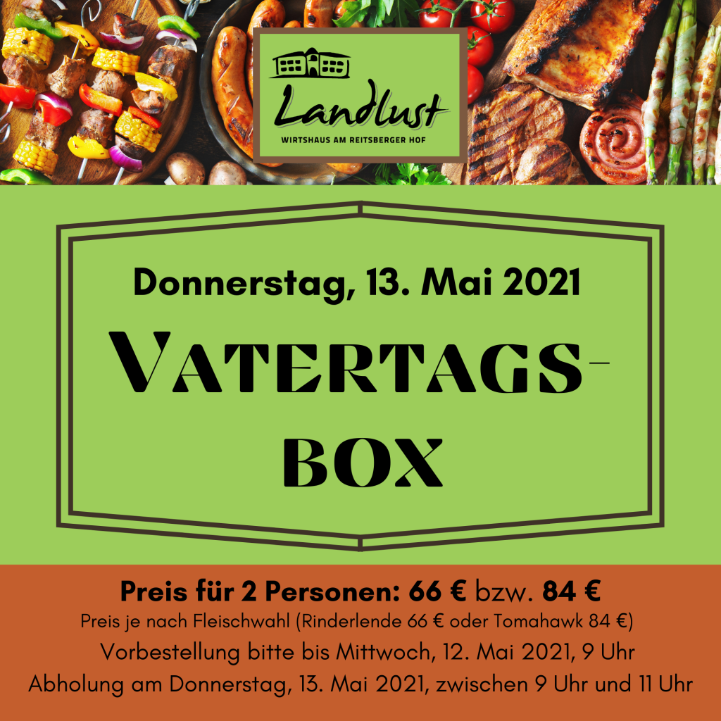 Vatertags-Box to go Landlust Christi Himmelfahrt 2021